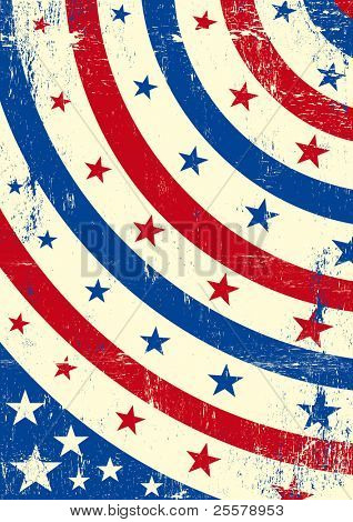 Patriotic grunge background . An abstract patriotic background