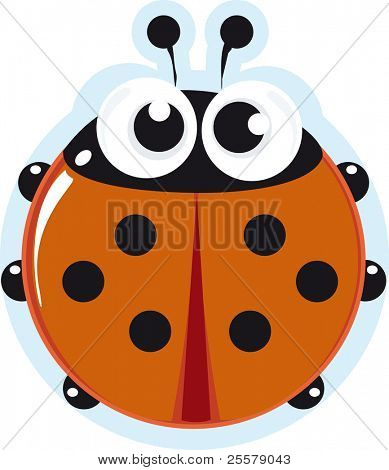 Ladybird. little cartoon insect for you.