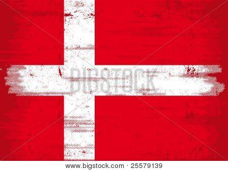 Denmark grunge flag A Denmark grunge flag with a texture