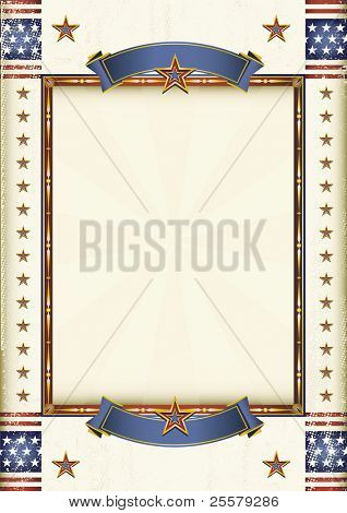 American frame. A poster for your message.