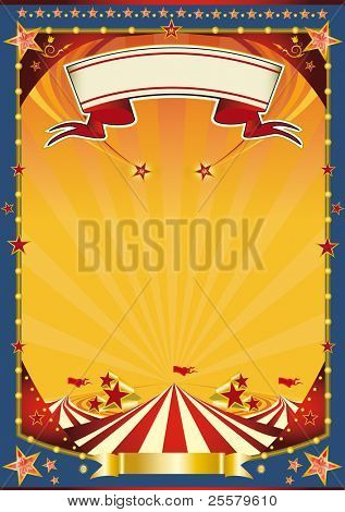 Nice poster with big top. A new poster circus for your show