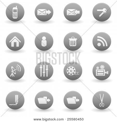 Simple vector media and web icons set