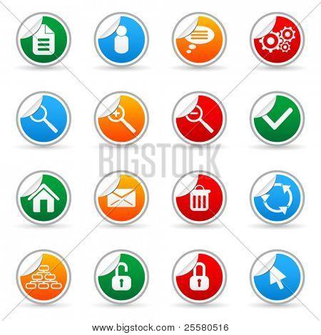 Vektor Medien Aufkleber Symbol für Web-Anwendungen (Set 3)