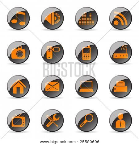 Vector glossy icon (set 1)