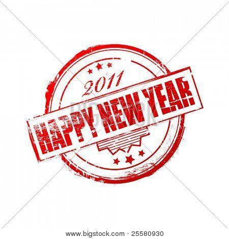 New year 2011 stamp
