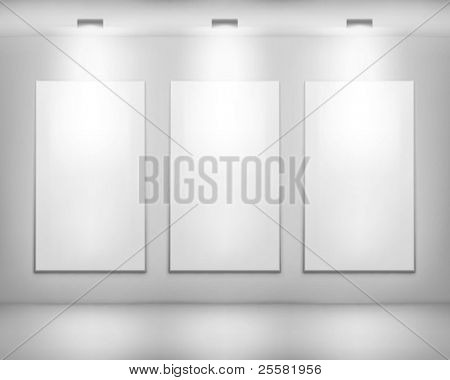 White frames. Vector illustration.