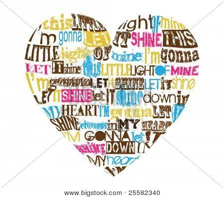 This little light of mine lyrics in the shape of heart