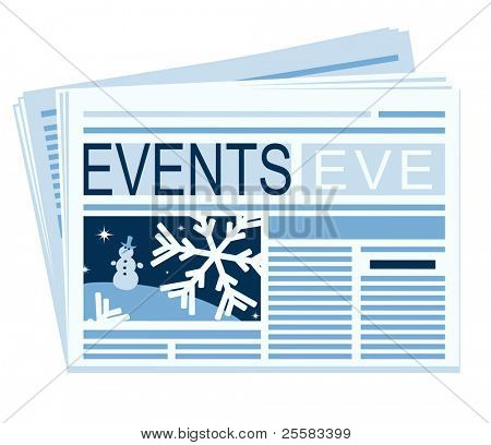 a chronicle of the last festive events is in a newspaper