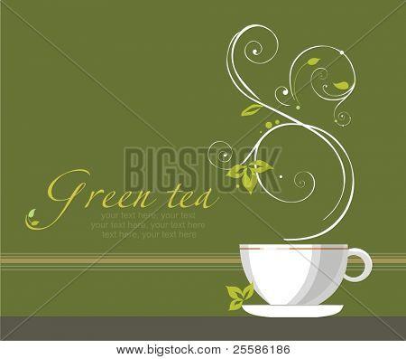 chá de fundo Vector