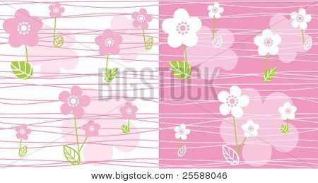 Pink baby seamless. Vector illustration.