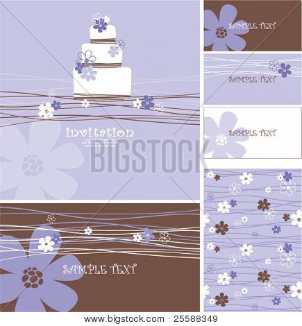 wedding or birthday cards with copy space