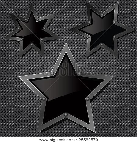 Raster grill texture with stars