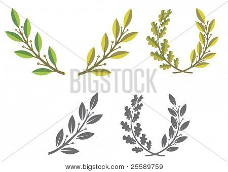 laurel wreaths and branches