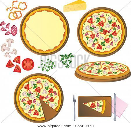 Pizza, components of pizza