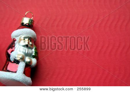 Santa Claus On Red
