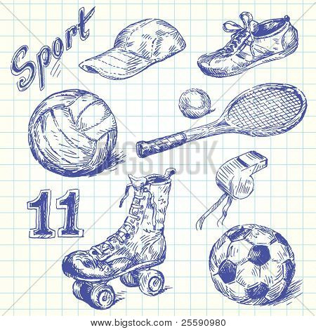 Sport-Kritzeleien