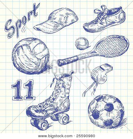 sport doodles
