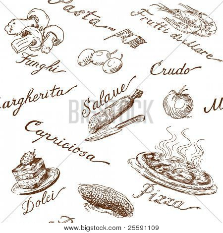 italian food seamless pattern