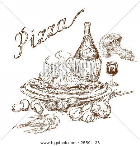 pizza still life