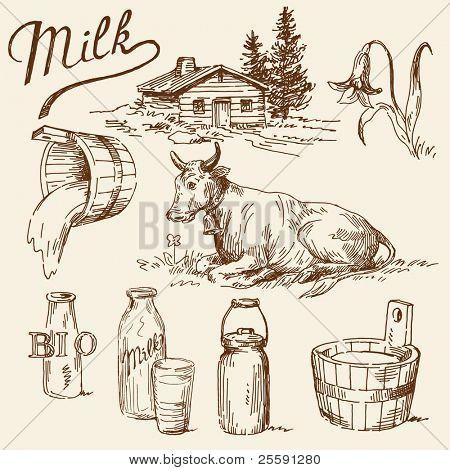 Milch Kritzeleien