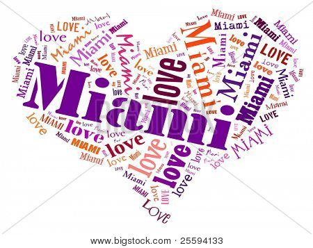 Love heart of  Miami