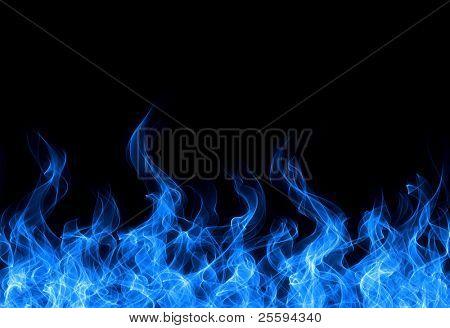 Seamless gas fire border