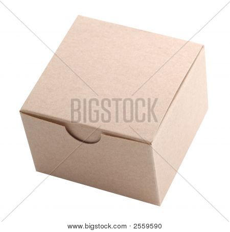 Small Cardboard Box, Isolated