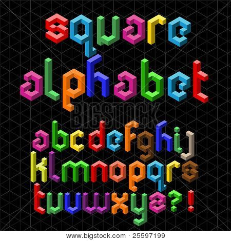 Colorful Square Alphabet