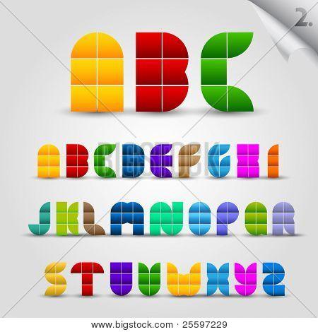 Colorful Decorative Alphabet Set