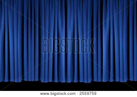 Bright Blue Stage Theater Drapes