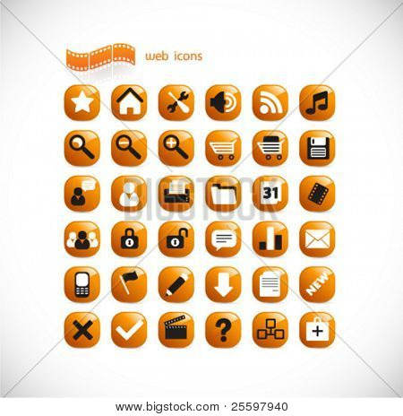 modern internet and mutlimedia  icons
