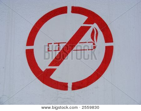 No Smoking Painted Sign