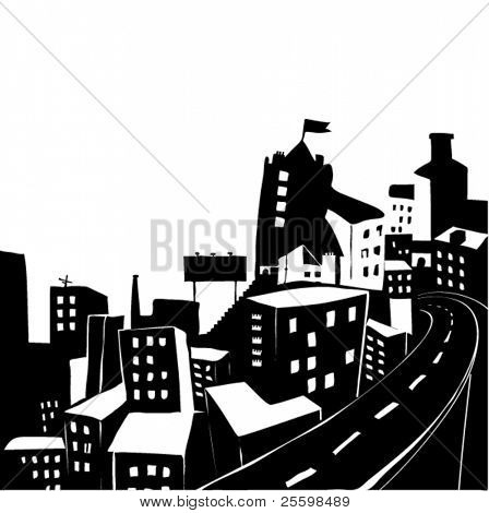 city silhouette - illustration
