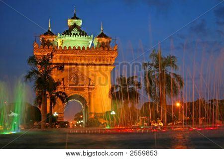 Monument In Vientiane,