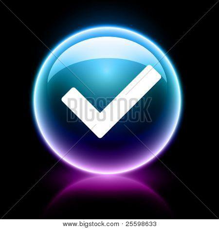 neon glossy web icon - right