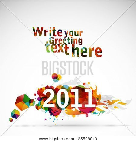 New Year 2011 - funky graphic design
