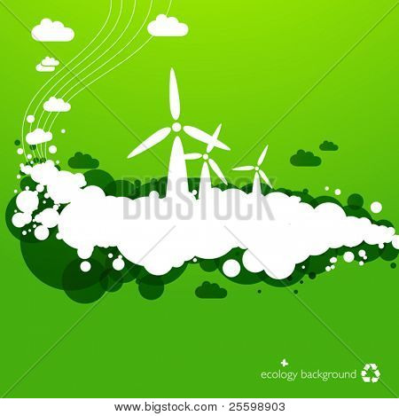 wind energy background - creative illustration for green energy concepts