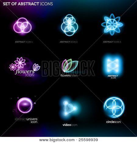 conjunto de iconos abstractos