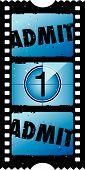 Постер, плакат: 2 X 1 признать один билет в кино