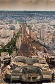 pic of gare  - Top View Of The Station Montparnasse - JPG
