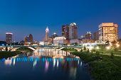 Columbus, Ohio City Night Skyline Along The Scioto River poster