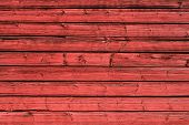 Wood Background With Old Shabby Vintage Boards. Brown Wood Wall Of Horizontal Boards. poster