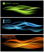 picture of green-blue  - Shiny color waves over dark vector backgrounds - JPG