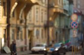 Blurred Background Photo.cityscape Bokeh. Defocused Abstract City.background Out Of Focus.can Use As poster