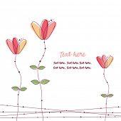Постер, плакат: Цветки розовые каракули