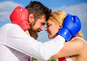 Man Beard And Girl Cuddle Happy After Fight. Family Life Happiness And Relation Problems. Reconcilia poster