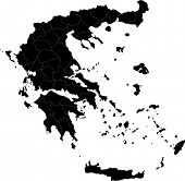 stock photo of sparta  - Map of administrative divisions of Greece - JPG