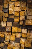 A Pile Of Stacked Firewood poster