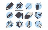 Shutterstock - Photo Editor Icon Pack 04.eps poster