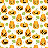 Cute Halloween Pumpkins Seamless Pattern. Cute Halloween Concept. poster